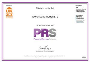 PRS Membership Certificate